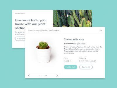 Cactaceae Free UI kit