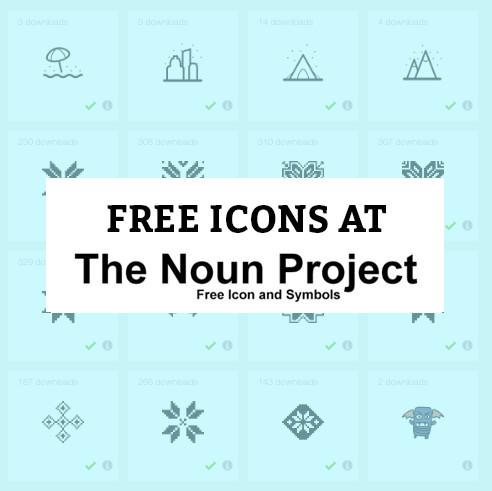 free icons noun project